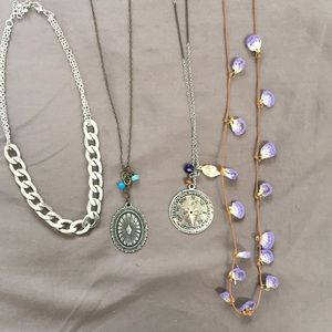 Boho necklace set